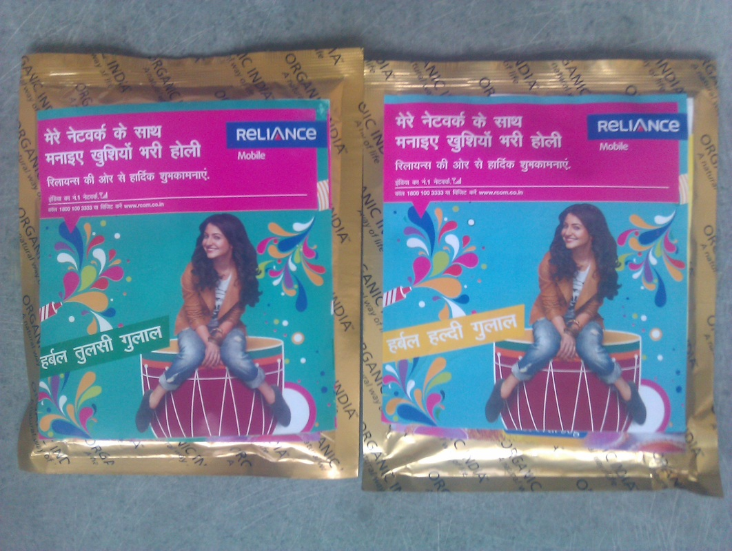 Eco Friendly Holi Colors for Reliance Telecom